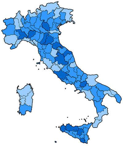 durezza acqua italia mappa